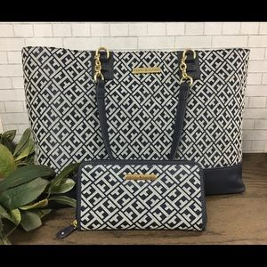 Tommy Hilfiger Tote & Matching Wallet